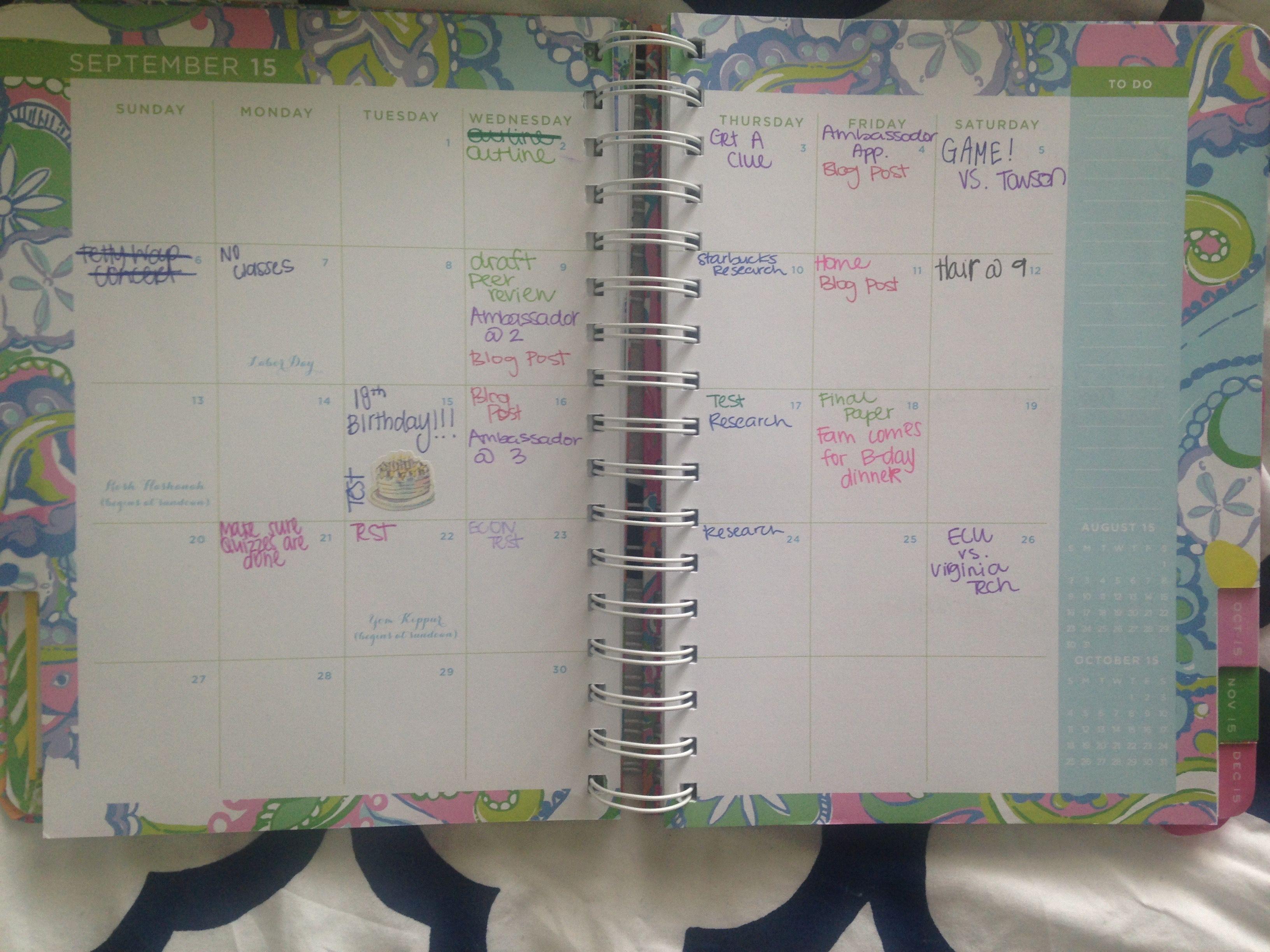 Check out how I organize my agenda!