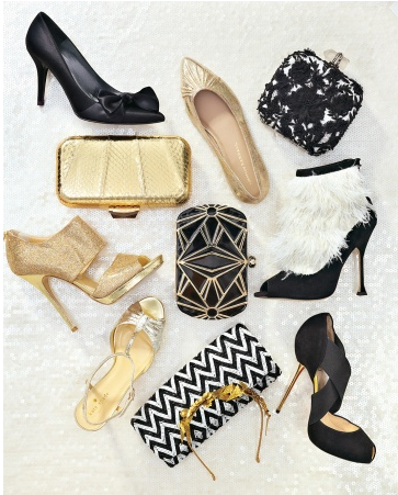 more black and gold inspiration   via Ritzy Bee