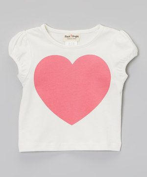 Loving this Taylor Joelle Designs White & Pink Heart Tee - Infant & Toddler on #zulily! #zulilyfinds