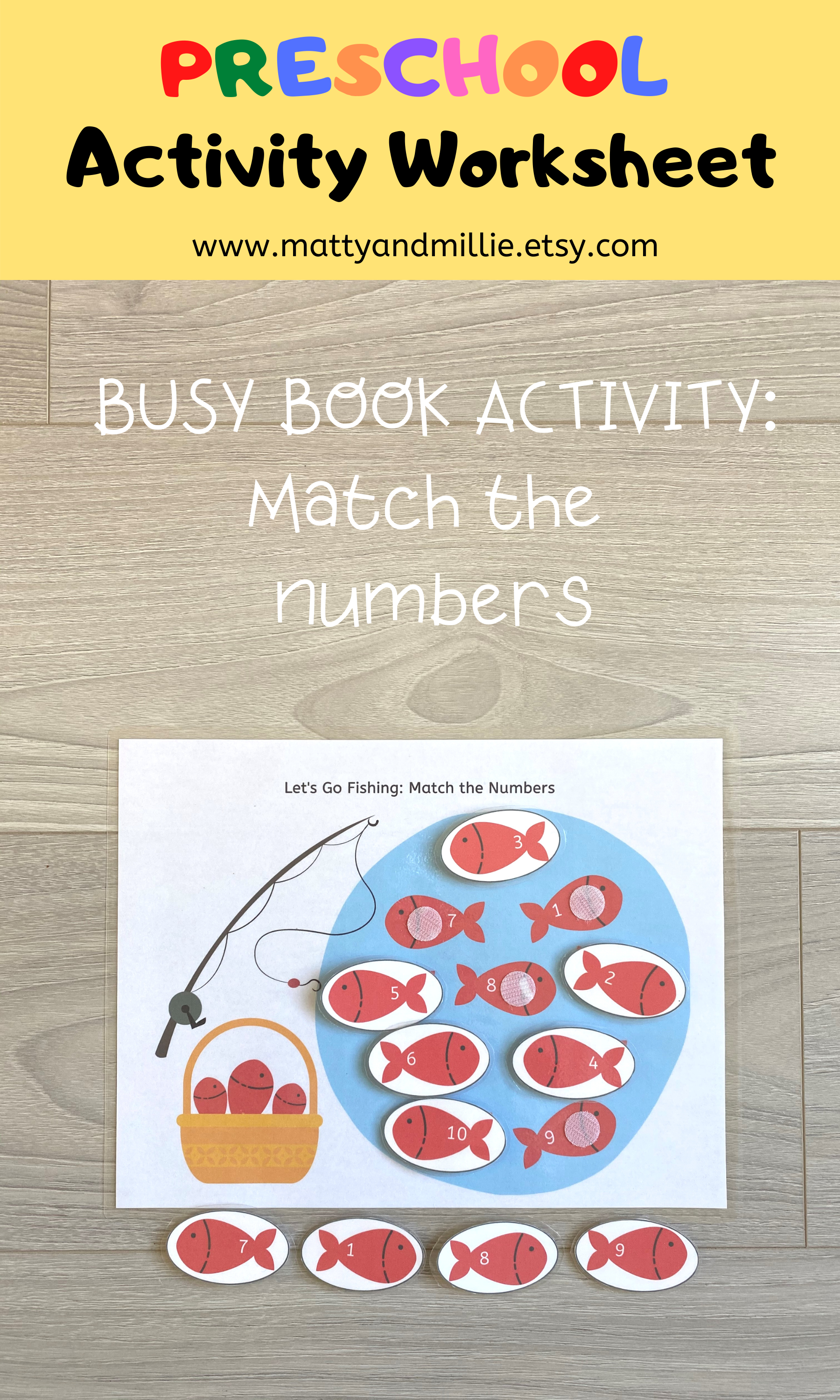 Match By Numbers Worksheet Busy Book Pages Preschool