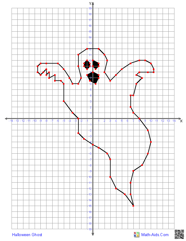 Halloween Ghost OOOOOHHHH SCARY – Graphing Ordered Pairs Worksheets