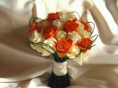 Orange Flower Bouquets For Weddings Wedding And Bridal Inspiration