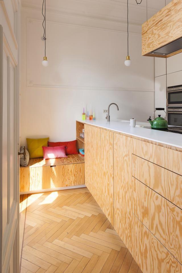 keuken multiplex met klein zithoekje inspiratie pinterest keuken keuken ideen and interieur