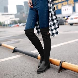 Belted Elastic Over the Knee Boots from #YesStyle <3 Shoes Galore YesStyle.com