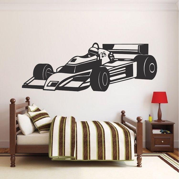 Race Car Wall Decal Kids Sports Car Stickers Trendy Wall Designs Kids Bedroom Wall Decals Kids Room Wall Decals Kids Wall Decals