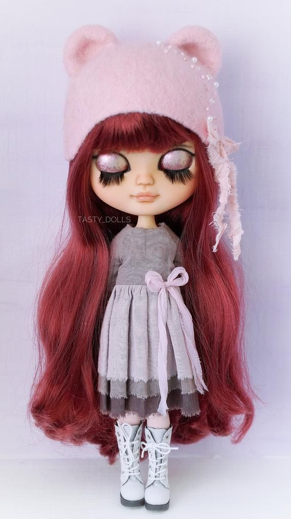 Custom Blythe carving doll collectible doll ooak blythe icy doll