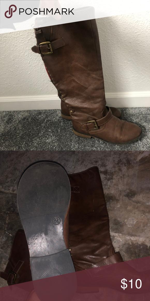 97b6623a30a3 dark brown tall winter boots gently worn dark brown tall winter boots size  8.5 with zipper
