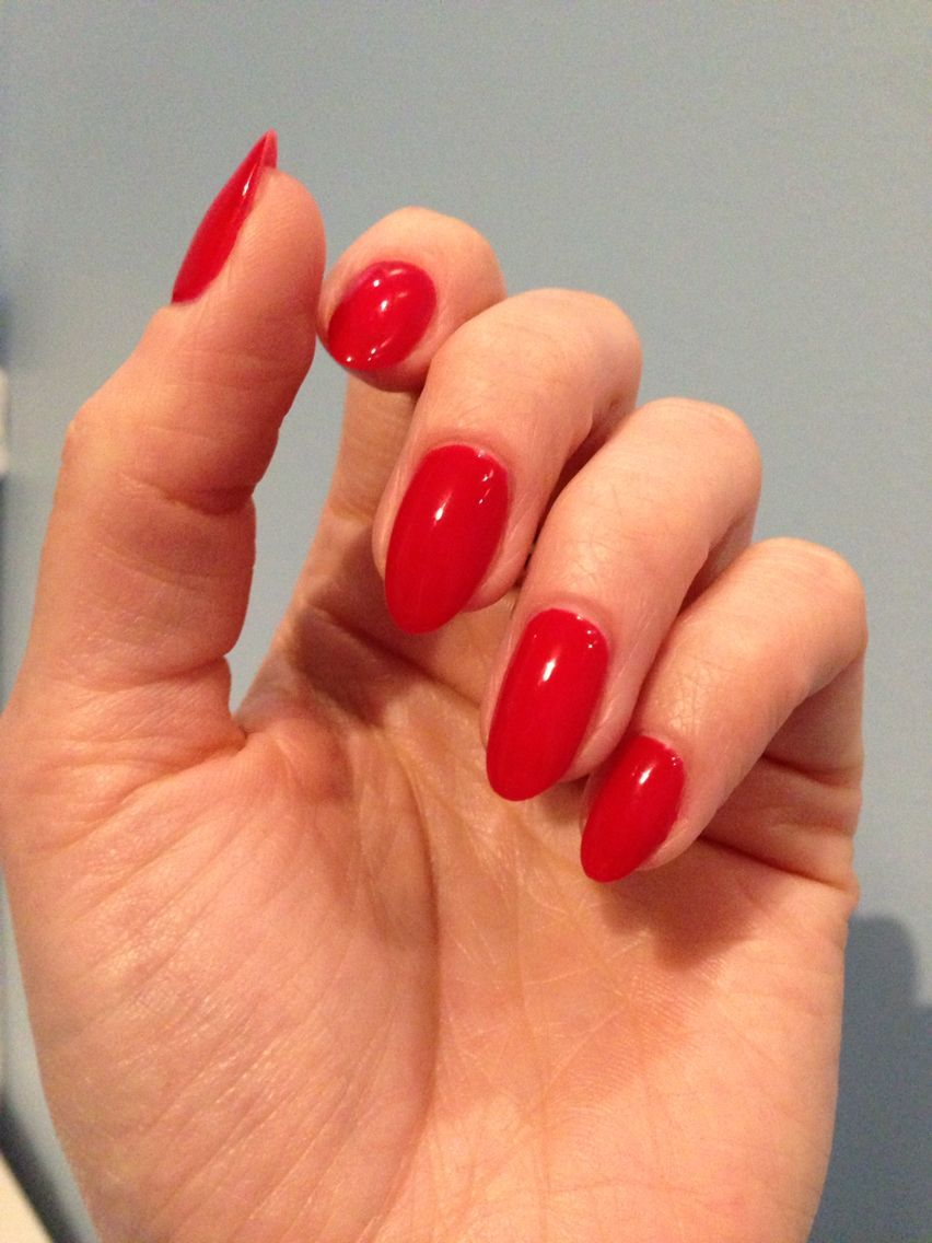 Red Almond Nails So Classy My Favourite Red Acrylic Nails Trendy Nails Red Nails