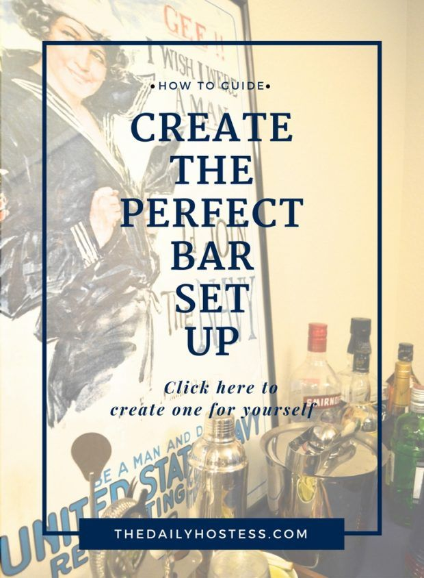 Create the perfect bar set up. Click here for step by step instructions.