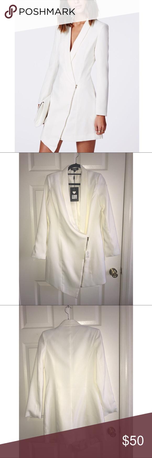 White Tuxedo Dress Tuxedo Dress White Tuxedo Missguided Dress [ 1740 x 580 Pixel ]