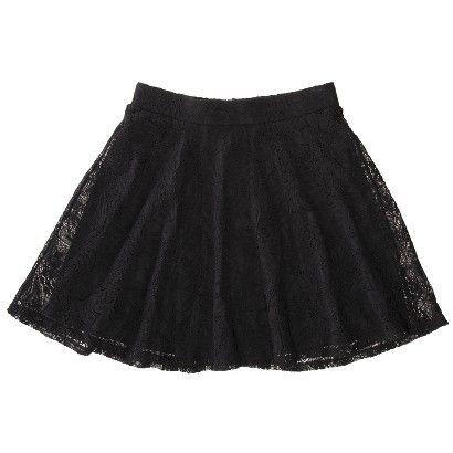 Target : Xhilaration® Juniors Lace Skirt - Black