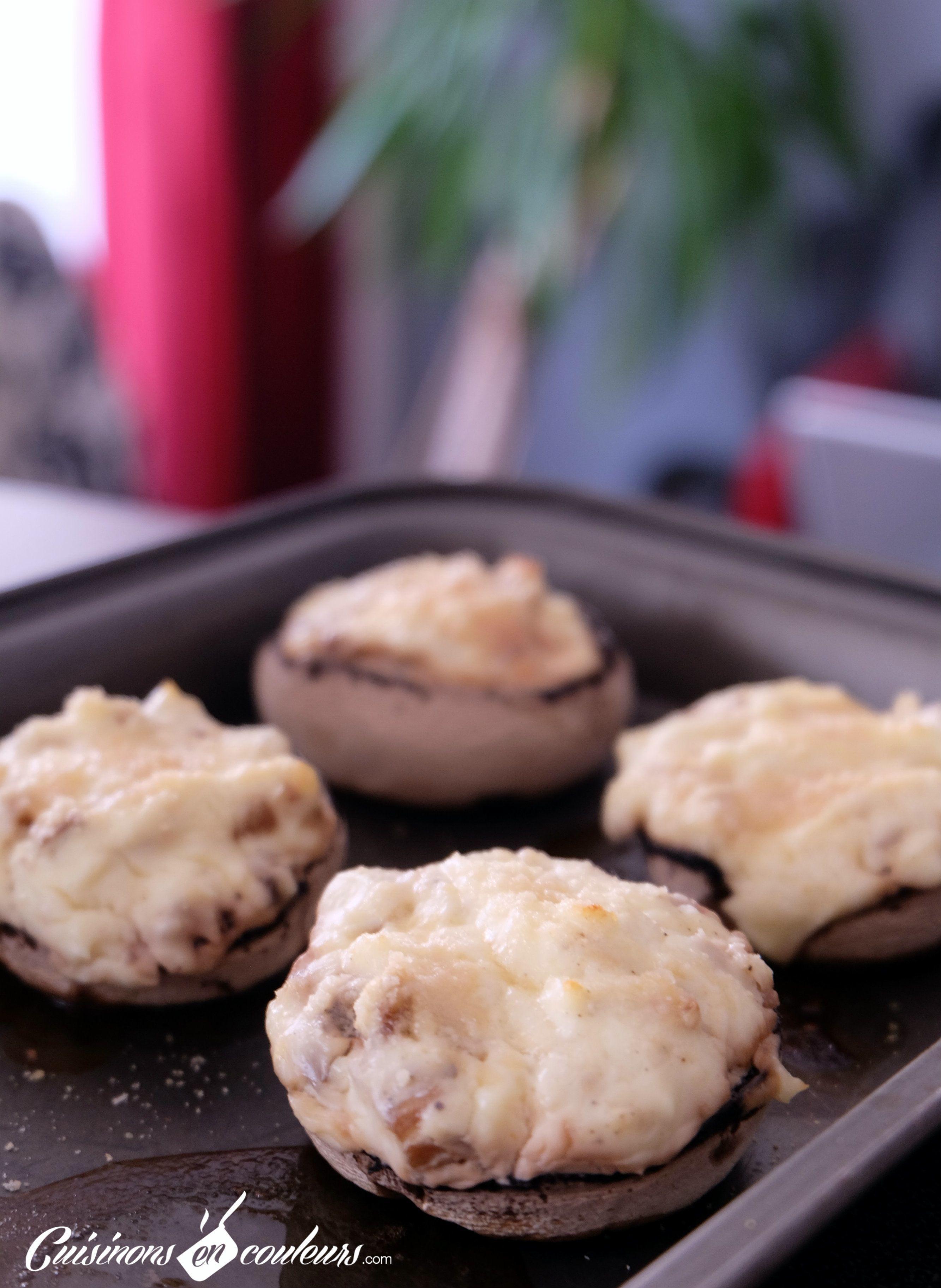 champignons de paris farcis au fromage champignons farcis recettes de champignons farcis et. Black Bedroom Furniture Sets. Home Design Ideas