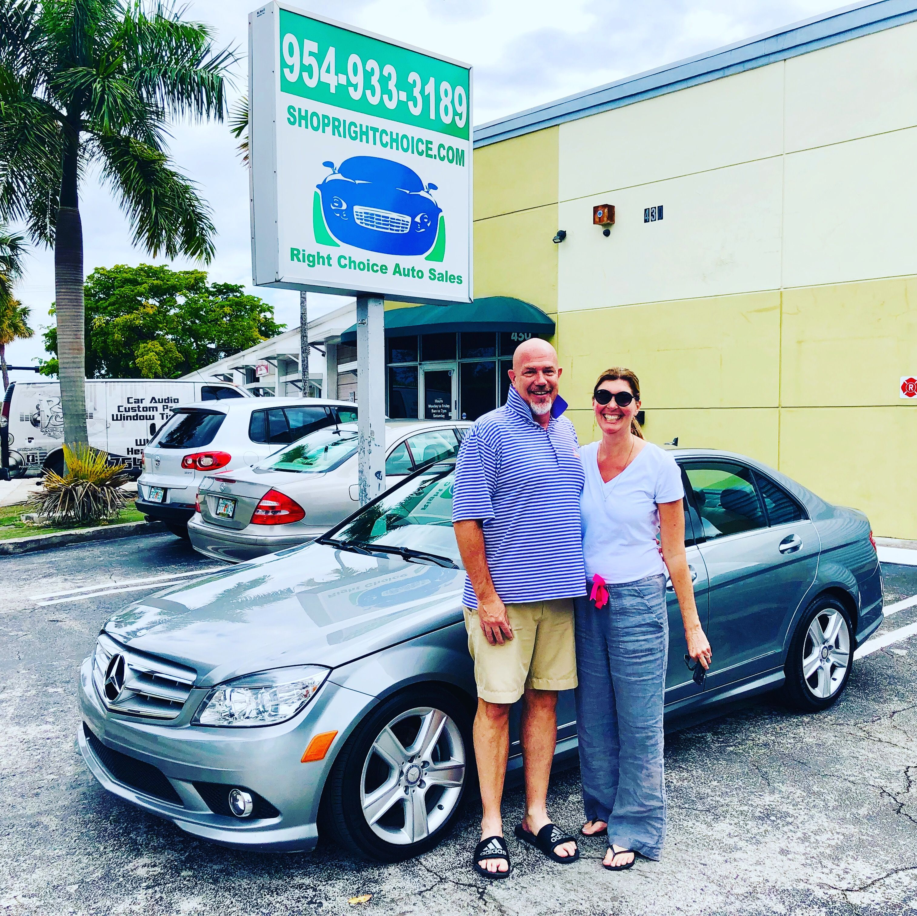 Happy Customers Who Drove From Jensen Beach Fl To Buy This Beautiful 2010 Mercedes Benz C300 4matic At Right Choi Cars For Sale Used Luxury Cars Pompano Beach