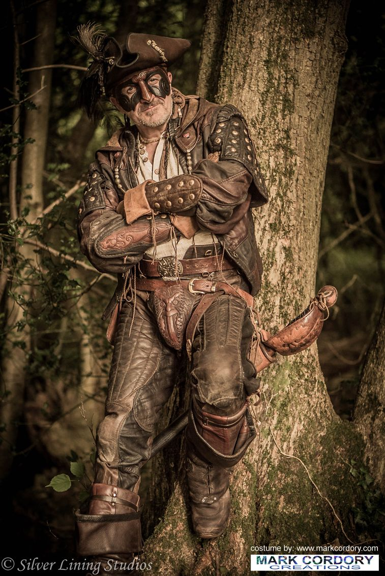 LARP pirate costume made by Mark Cordory Creations. Enquiries always welcome @ www.markcordory.com Photo courtesy & © Silver Lining Studios. All rights reserved.