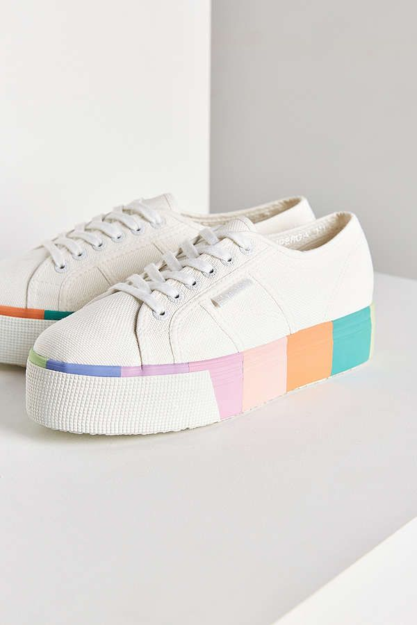 superga multicolor platform sneakers