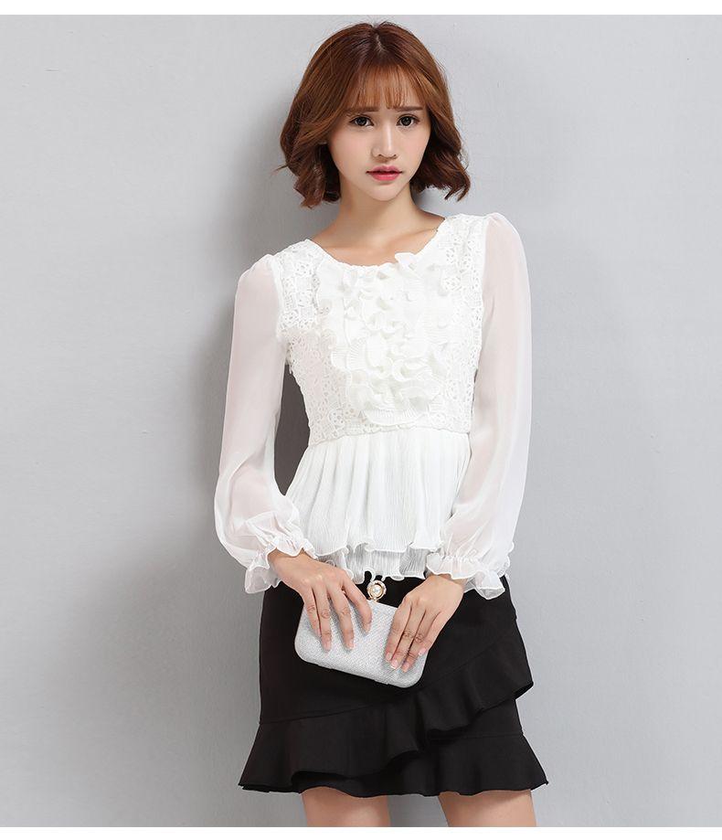 8.18 Nueva Lu Wei de seda 2016 de las señoras de Hitz camisa de gasa con…