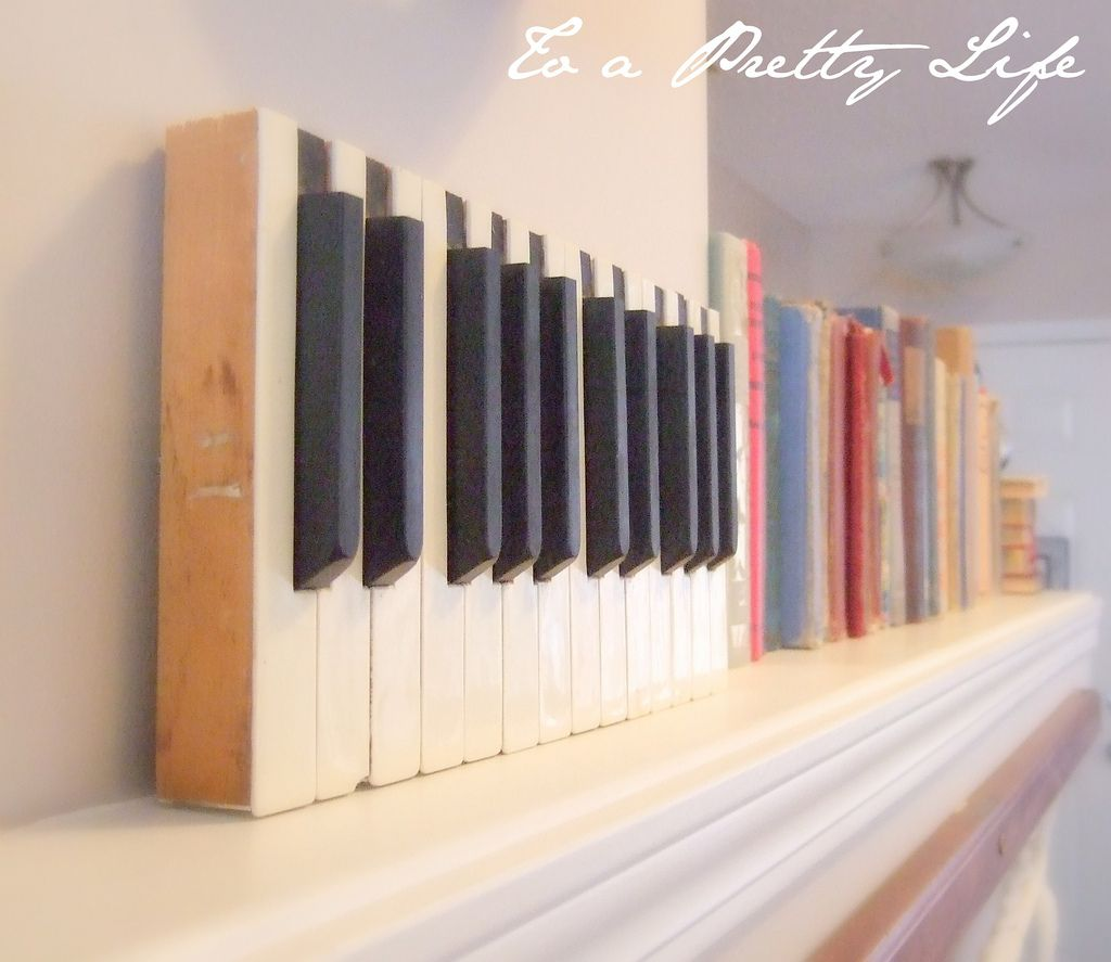 Key Wall Art piano key wall art | antique piano keys - to a pretty life