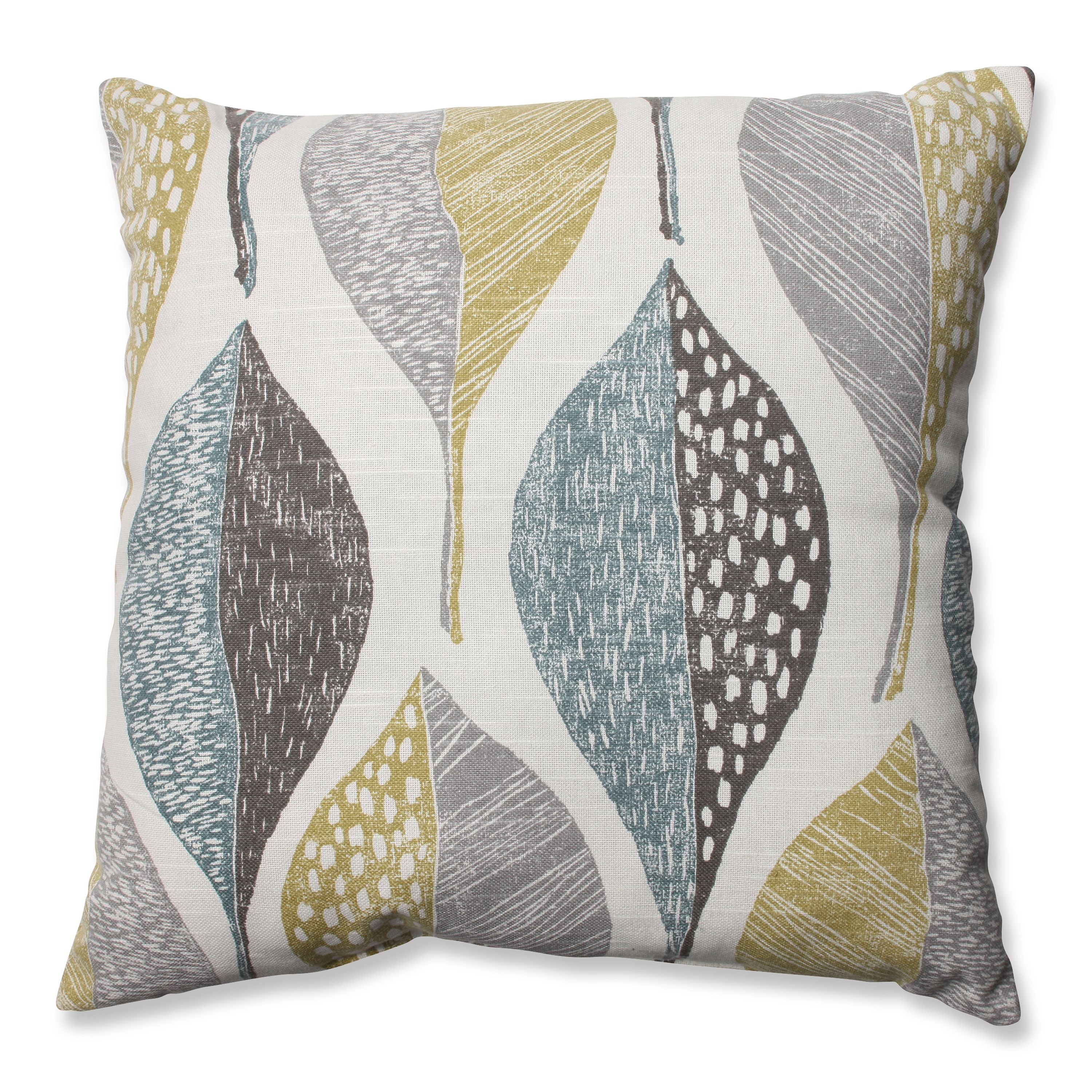 Brown and teal throw pillows - We Love The Touch Of Whimsy This Brown Transitional Patterned Throw Pillow Exudes Plush