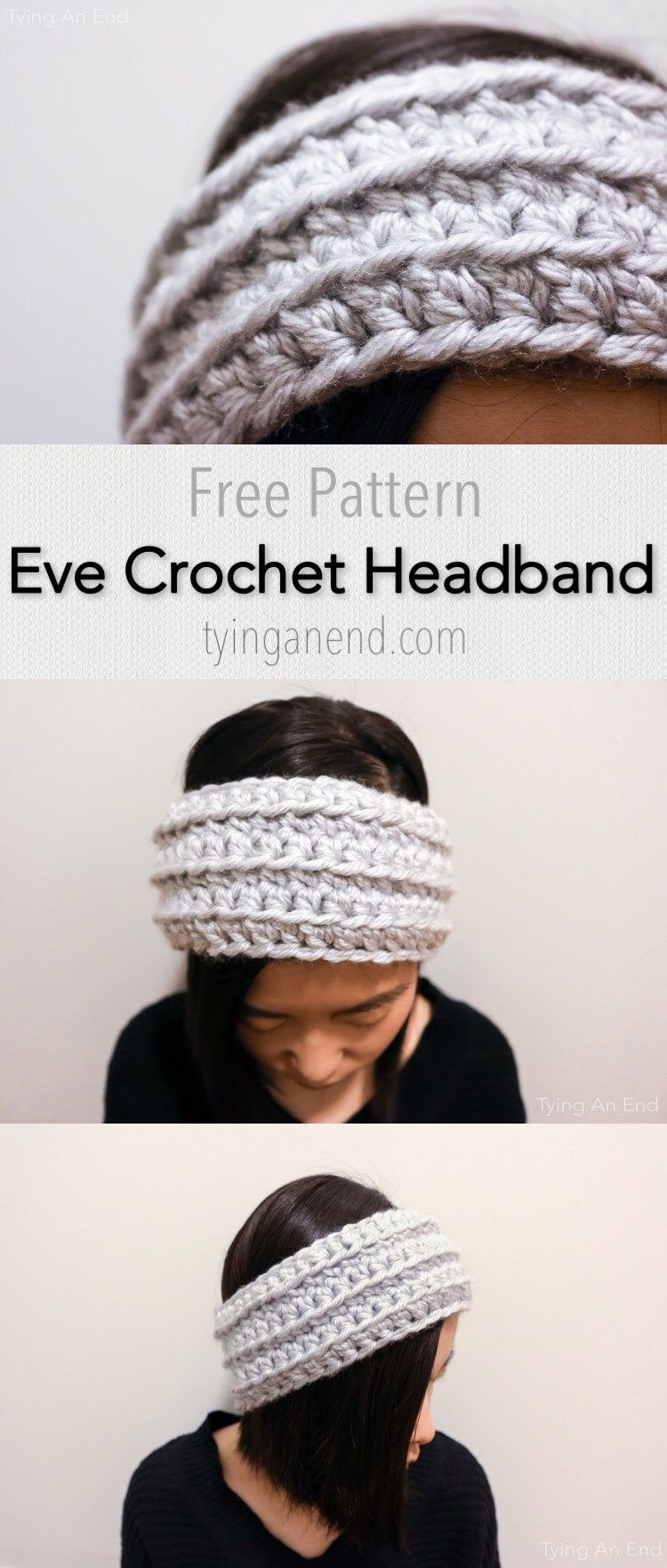 Free Crochet Pattern] Quick 30 minutes crochet headband for the cold ...