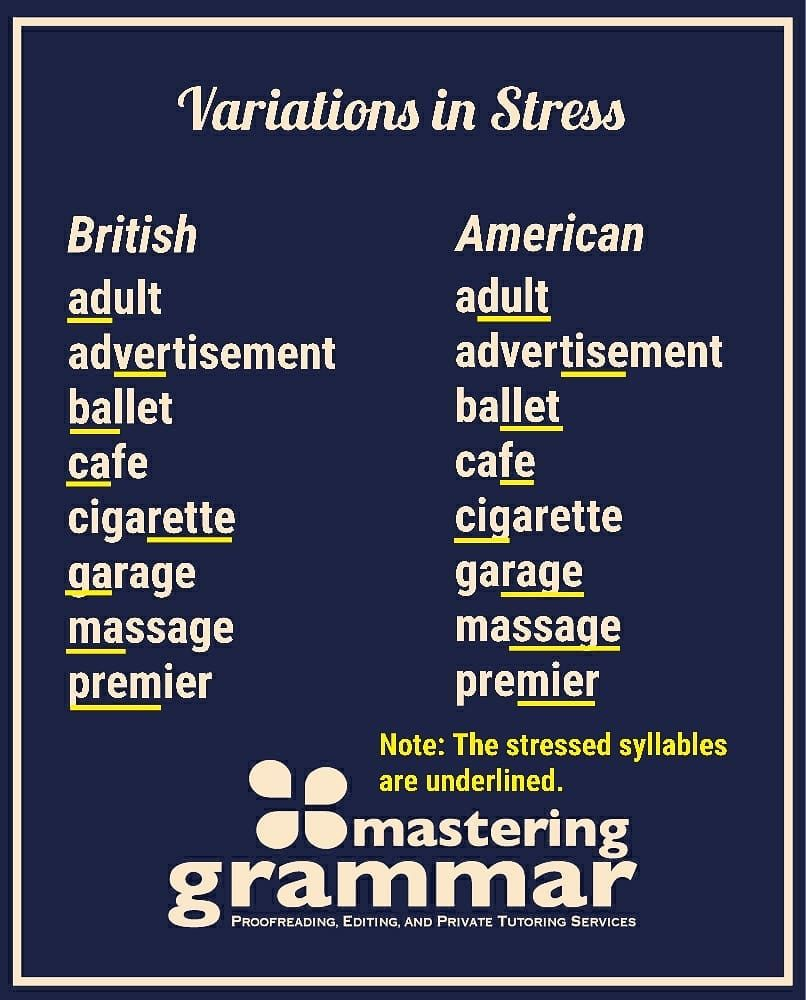 One Of The Most Noticeable Differences Between British And