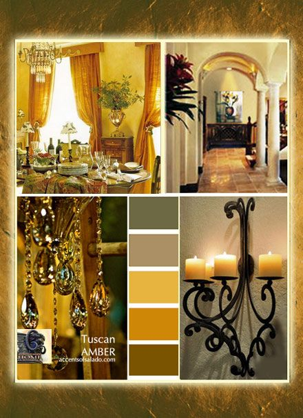 Shades Of Golden Amber Are Perfect Tuscan Decorating Colors.. ♥Accents Of  Salado Uses Gold Wall Color To Showcase Our Tuscan Style Furniture And ...