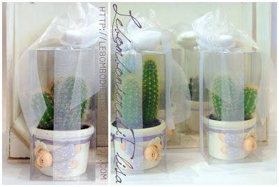 Recuerdos De Bautizo Con Cactus.Lebombonieredielisa Bomboniere Prima Comunione Bautizo