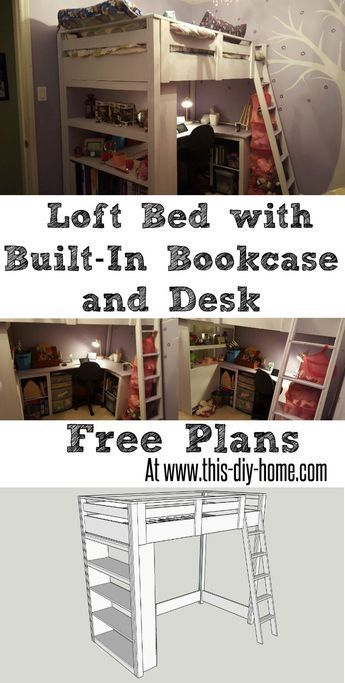 free pdf plans www this diy home com loft bed with built in