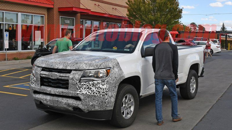 2021 Gmc Canyon And Chevy Colorado Front End Spy Shots Gmc