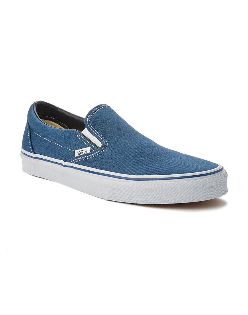 Vans Blue Slip-On Plimsolls | Vans slip