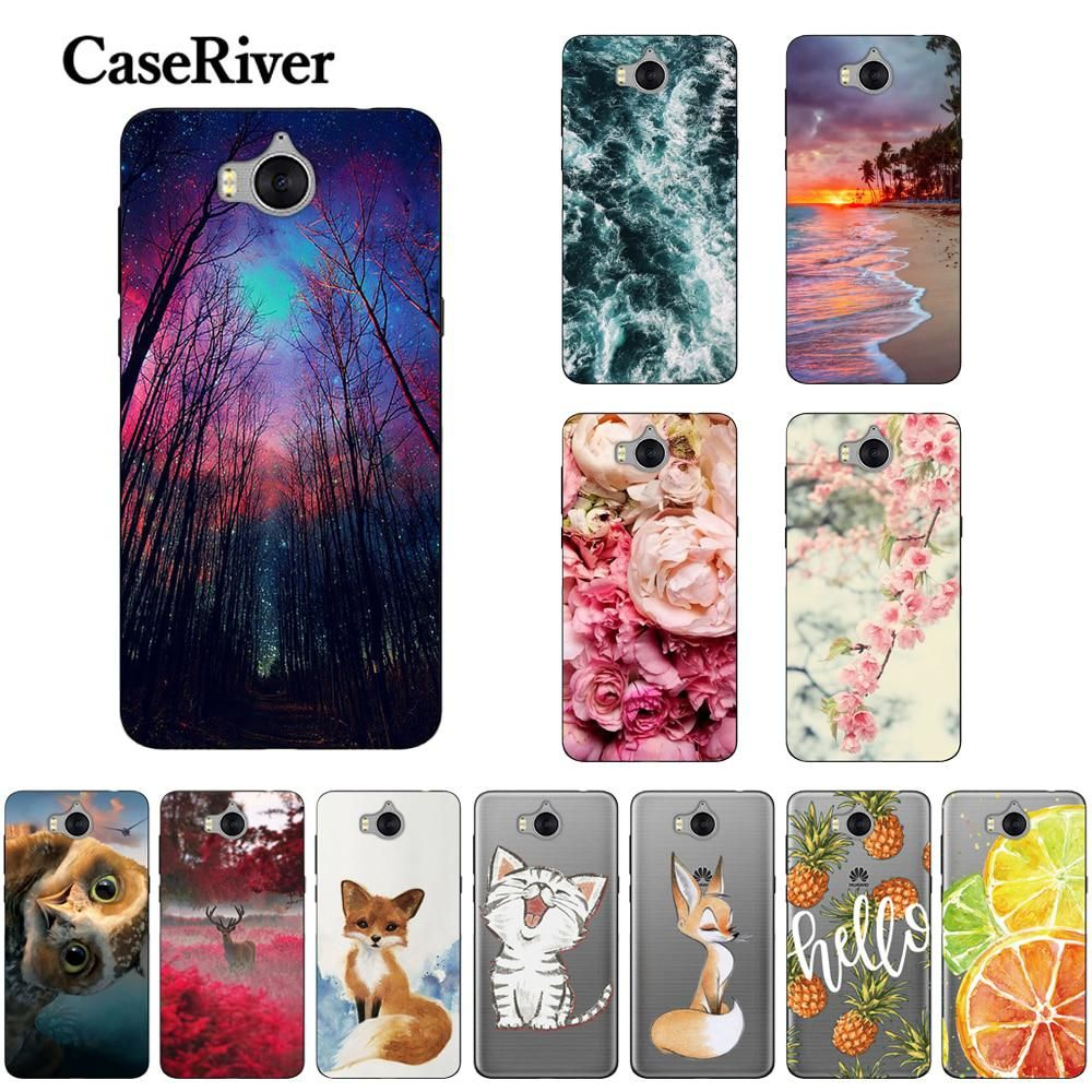CaseRiver Soft TPU Case sFor Huawei Y5 2017 Printed Soft Silicone