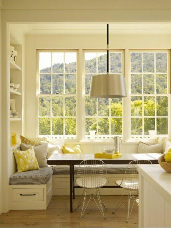 Esstisch mit Stühlen in der Küche - Gemütliche Essecke gestalten - kche mit esstisch