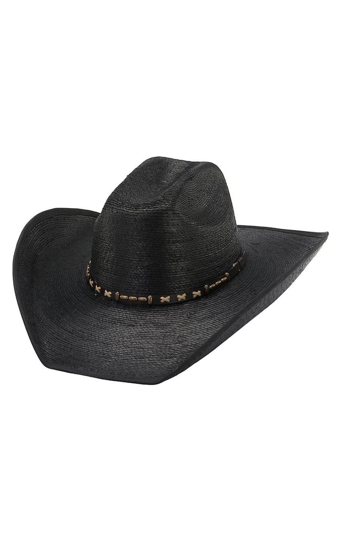 25cdca1c4ed Cavenders 20X Black Pondorosa Bound Bound Edge Palm Leaf Hat
