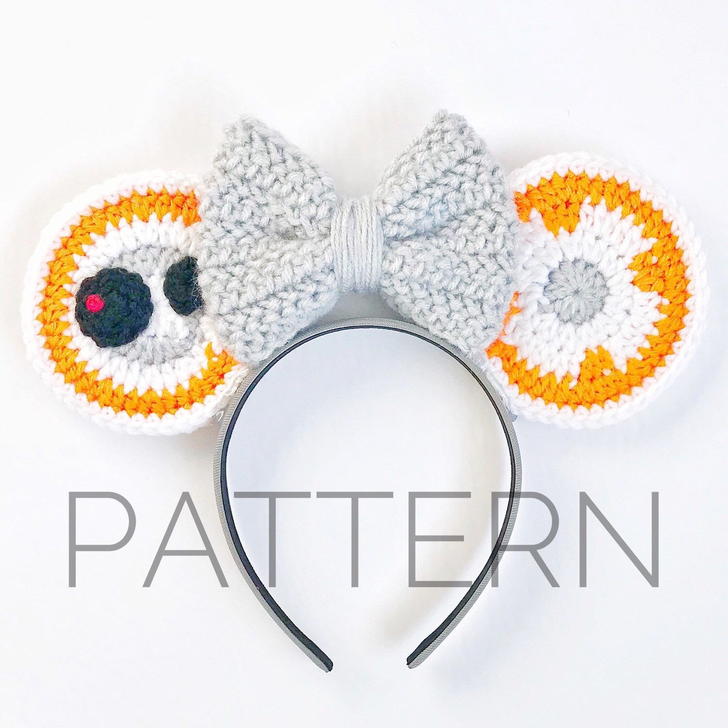 BB8 Inspired Crochet Mouse Ears//Crochet Pattern//Star Wars//DIY ...