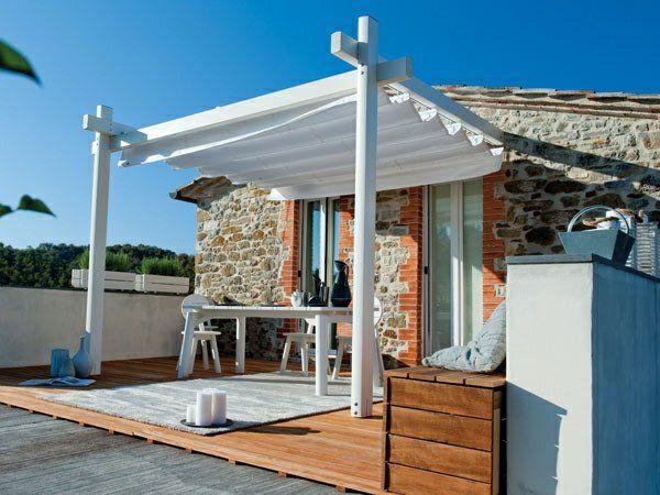 holz glas pergola veranda Überdachte Terrasse Überdachung Pool - renovierung der holzterrasse
