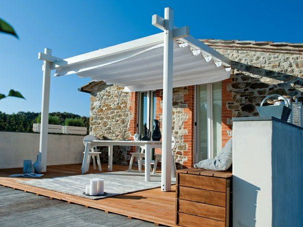 holz glas pergola veranda Überdachte Terrasse Überdachung Pool - 28 ideen fur terrassengestaltung dach