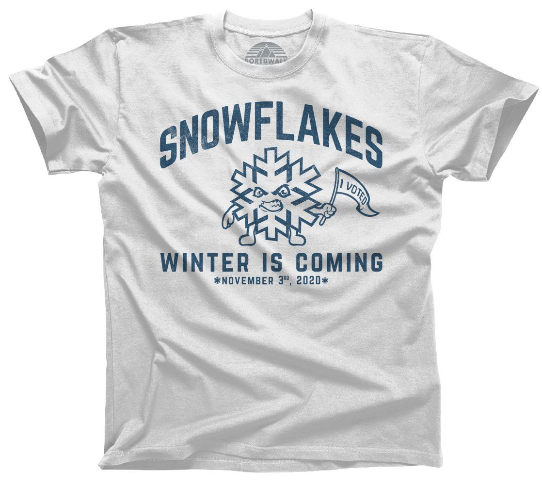 Men S Winter Is Coming Snowflake T Shirt Liberal Resist Shirt In