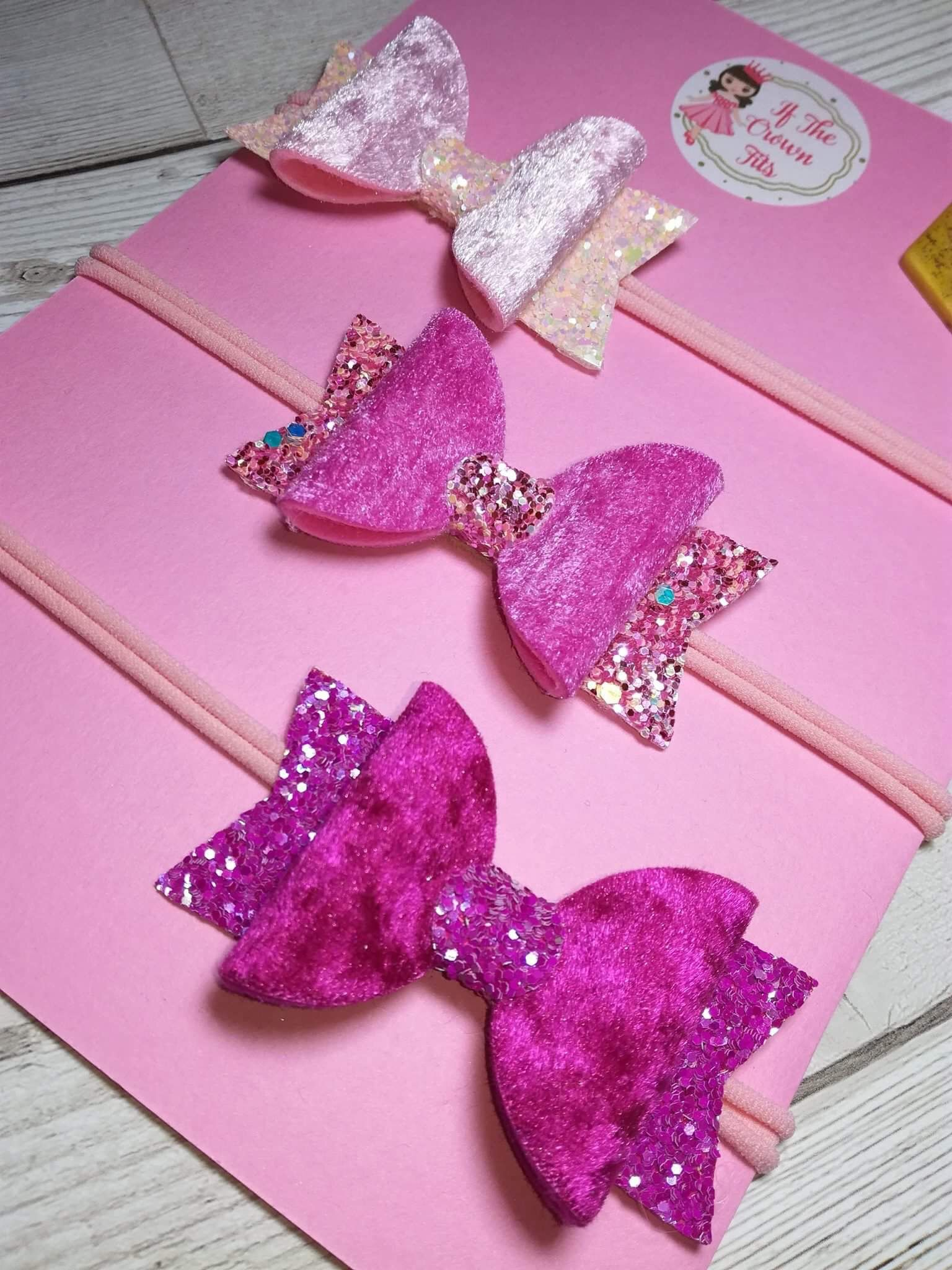 Super cute crushed velvet and glitter all pink super girly great