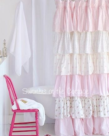 Pin By Bazotic Crea On Shabby Country Home Shabby Chic Shower Shabby Chic Shower Curtain Shabby Chic Curtains