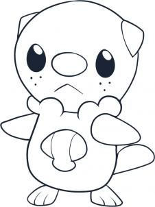 Pokemon Characters How To Draw Oshawott Pokemon Coloring Pages