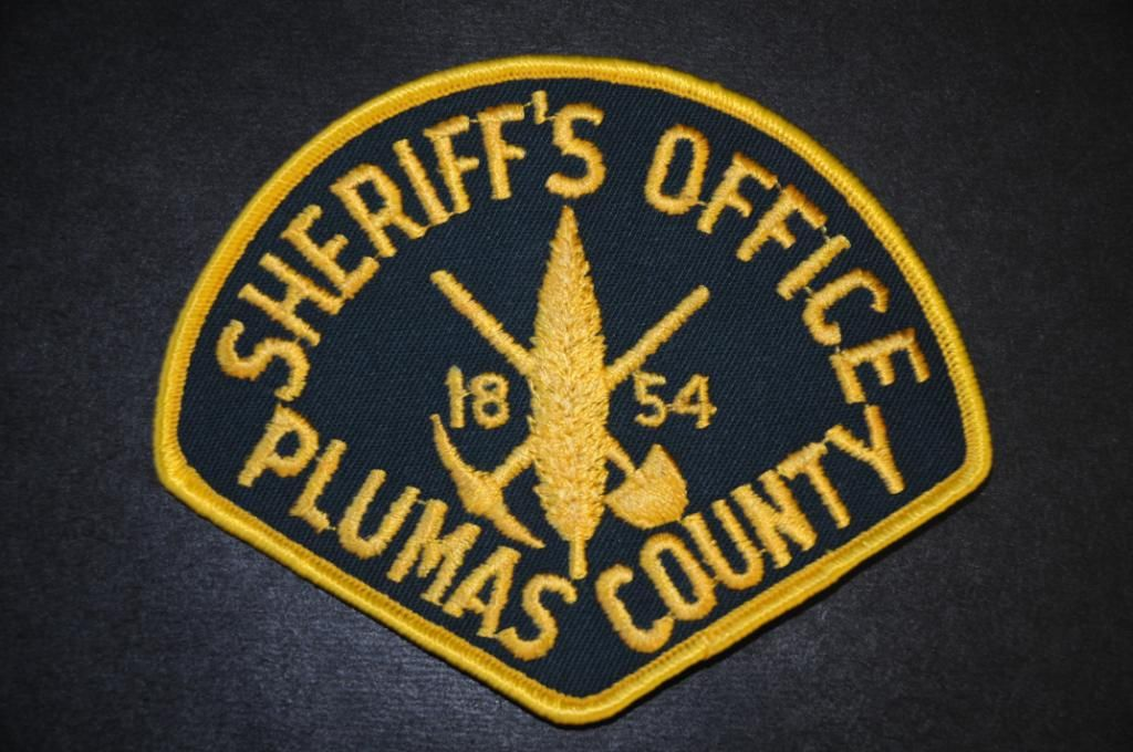 Plumas County Sheriff Patch, California (Current 2000