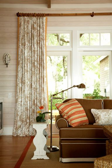 Design By Amanda Nisbet Bamboo Curtains Home Curtain Rods