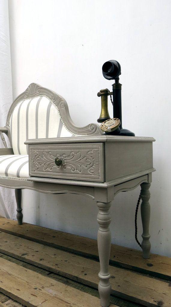Vintage Telephone Hallway Window Seat Bench By Arthouseattic Meuble Telephone Coin Sous La Fenetre Deco