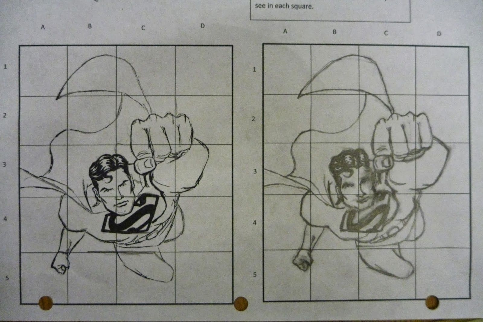 Drawing Lines Of Symmetry On Shapes Worksheet : Superhero grid drawing or paint a superhero that exists