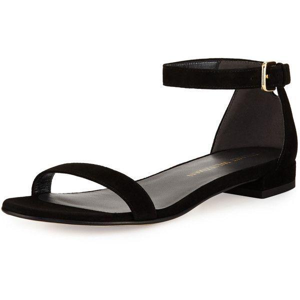 black open toe flat shoes