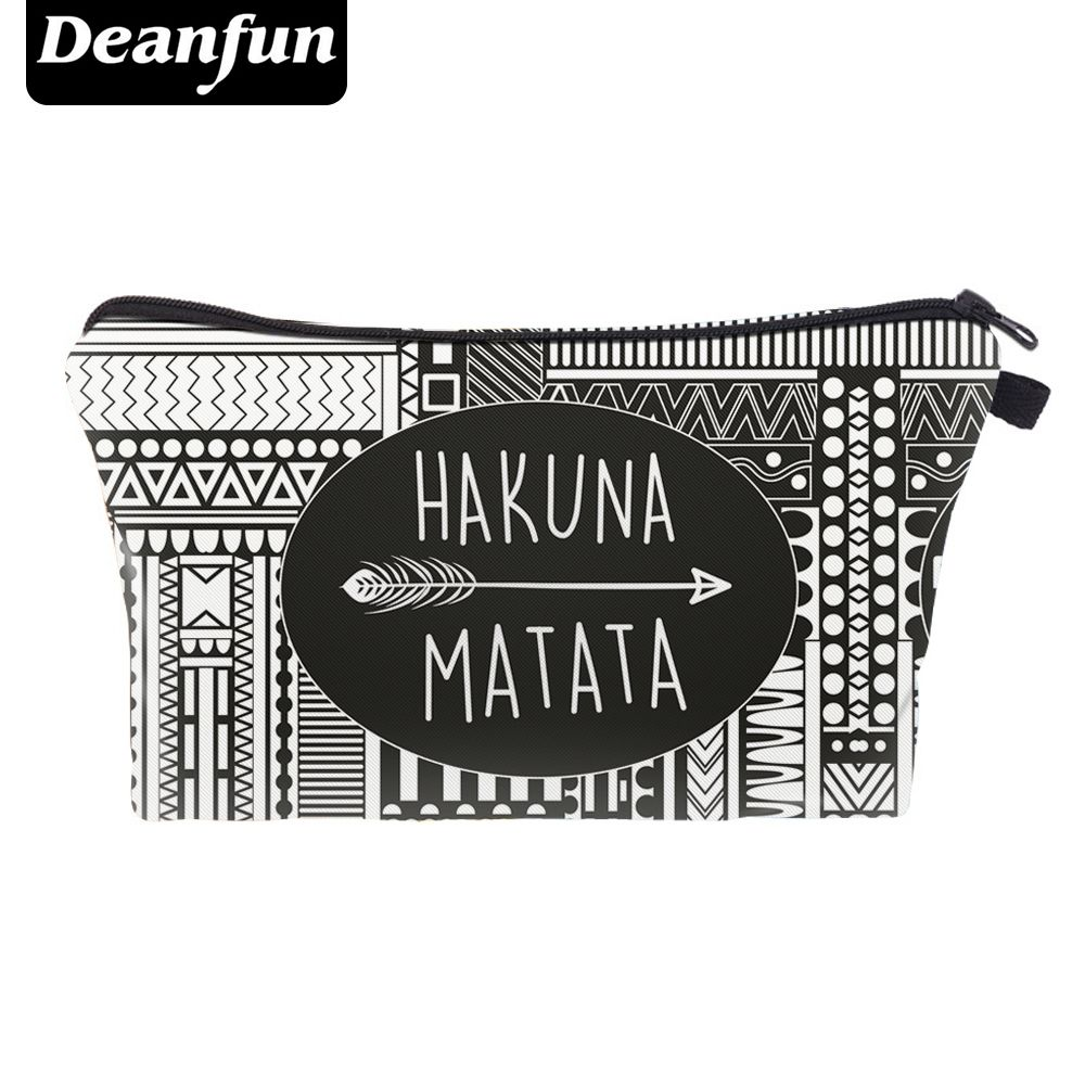 Deanfun Cosmetic Bag 3D Impreso Patrón de La Vendimia mujeres de La Manera Necesaria Travel Organizer 2017 Venta Caliente 50859