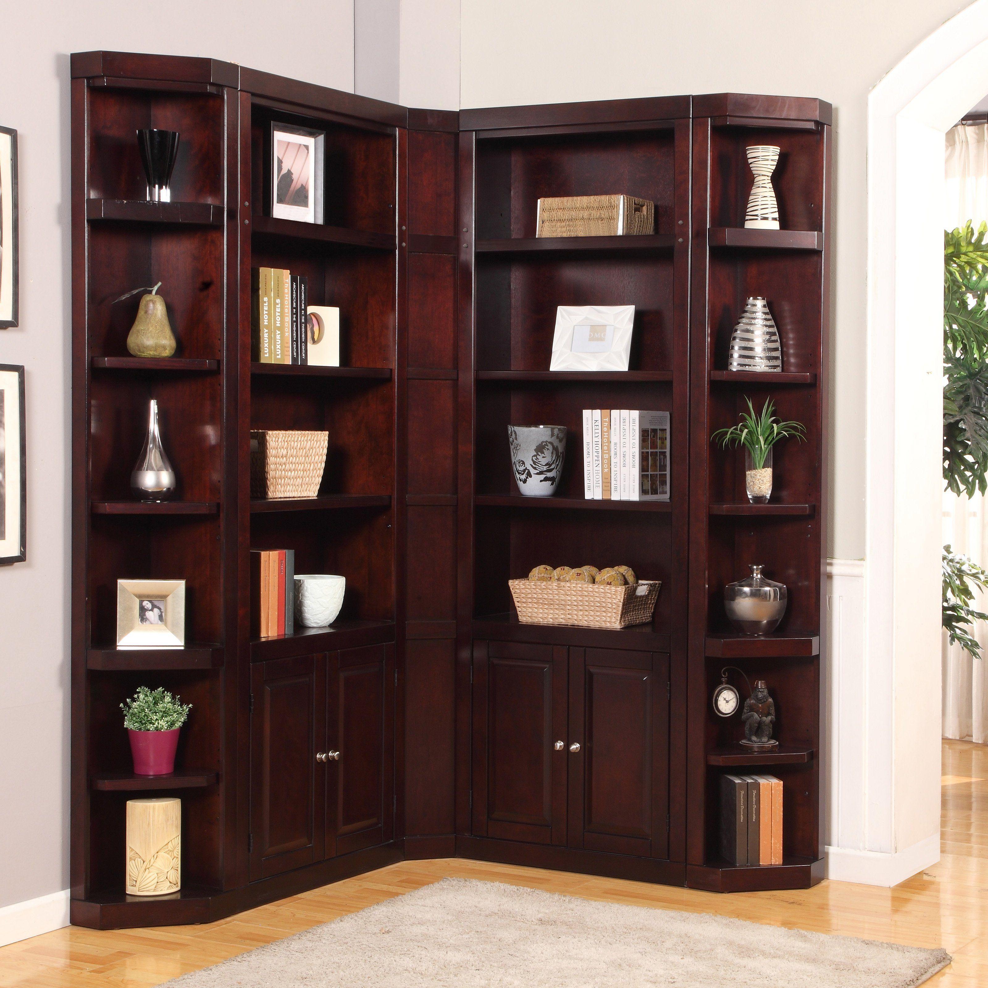 Parker House Boston Corner Bookcase Merlot From Hayneedle