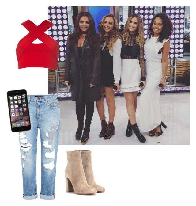 """Meeting little mix"" by littleminxz ❤ liked on Polyvore featuring Genetic Denim, Motel and Gianvito Rossi"