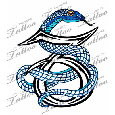 0ae5910ab3ec4 Marketplace Tattoo Capricorn Snake #14348 | CreateMyTattoo.com ...