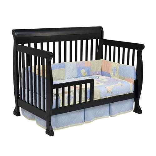 Kalani 4in1 Convertible Crib With Toddler Rail Ebony