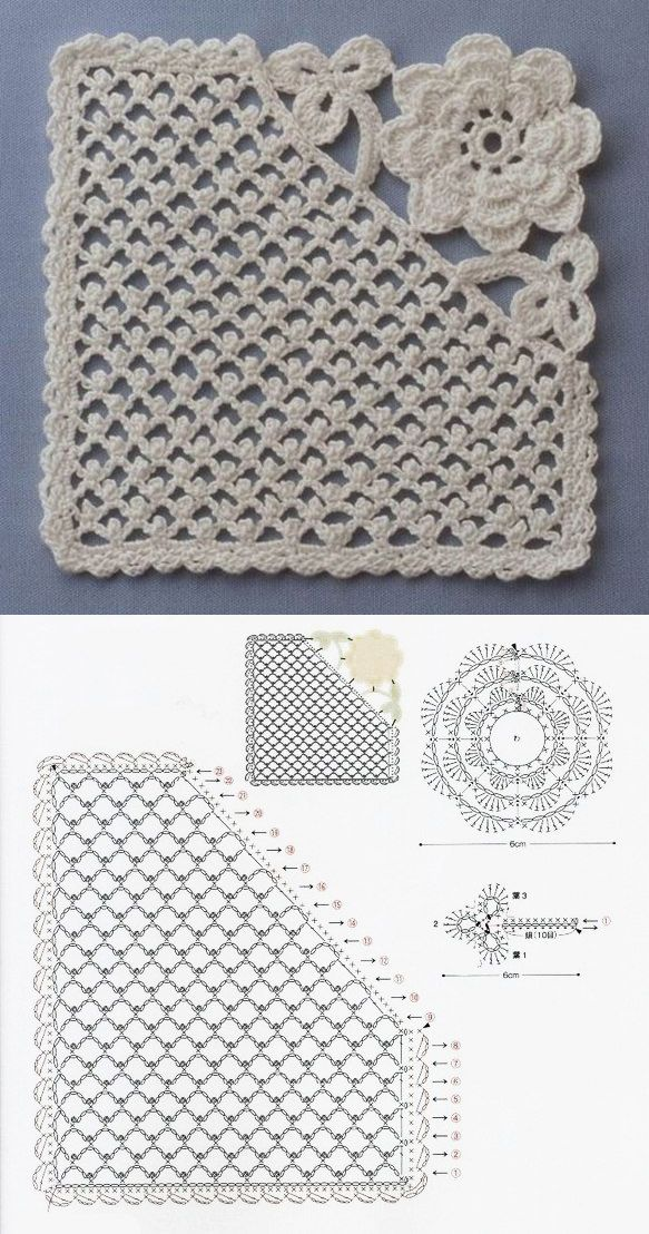 Beautiful crochet pattern | tejidos | Pinterest | Croché, Ganchillo ...